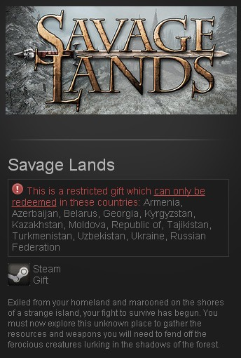 Savage Lands (Steam Gift/RU CIS)