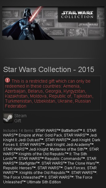 Star Wars Collection - 2015 (Steam Gift/RU CIS)