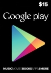 Google Play Gift Card 15 USD USA-регион