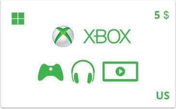 Подарочная карта Xbox 5 долл. US-регион