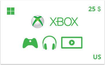 Подарочная карта Xbox 25 долл. US-регион