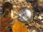 Золотые часы под водой