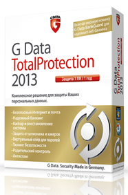 G Data Total Protection 2013 for 3 PCs for 1 Year