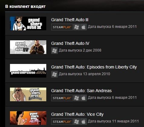 Grand Theft Auto Complete Pack - GTA (Steam Gift / RU)
