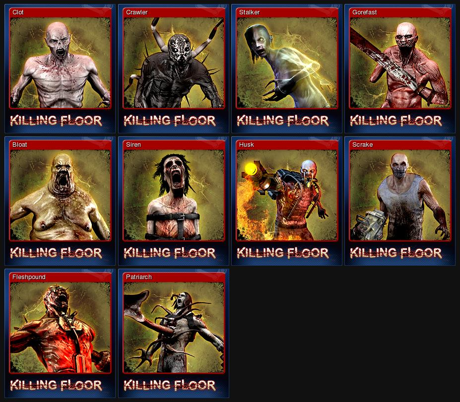 killing floor - Set of 10 cards + BONUS