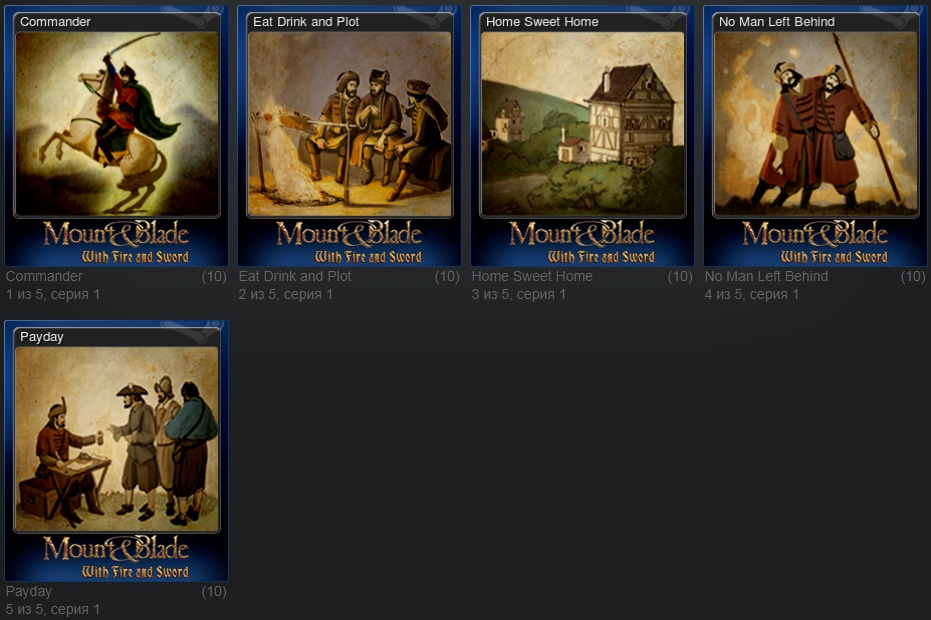 Mount & Blade: With Fire and Sword - Set of 5 cards