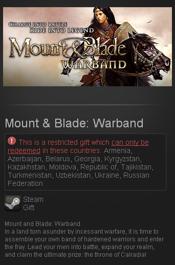 Mount & Blade Warband (Steam Gift/RU CIS)