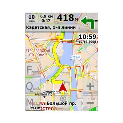 Program of GPS-navigation City Guide for WinMobile
