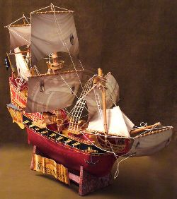 Paper model pirate schooner Wicked Wench