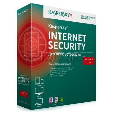 Kaspersky Internet Security 5 ПК / 1 год Russia 2017