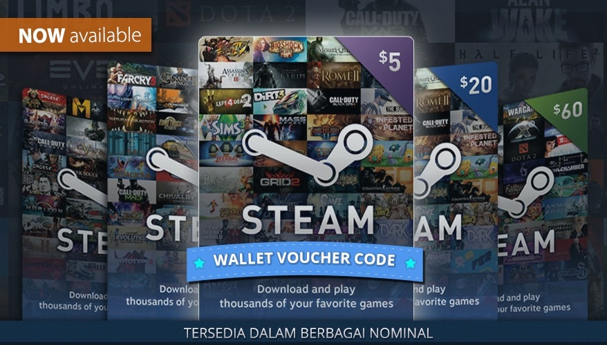 STEAM WALLET GIFT CARD $5 (USD) GLOBAL