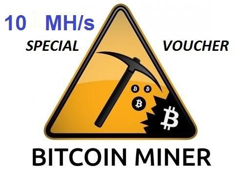 Voucher for 10 MHS mining Bitcoins mining Bitcoin BTC