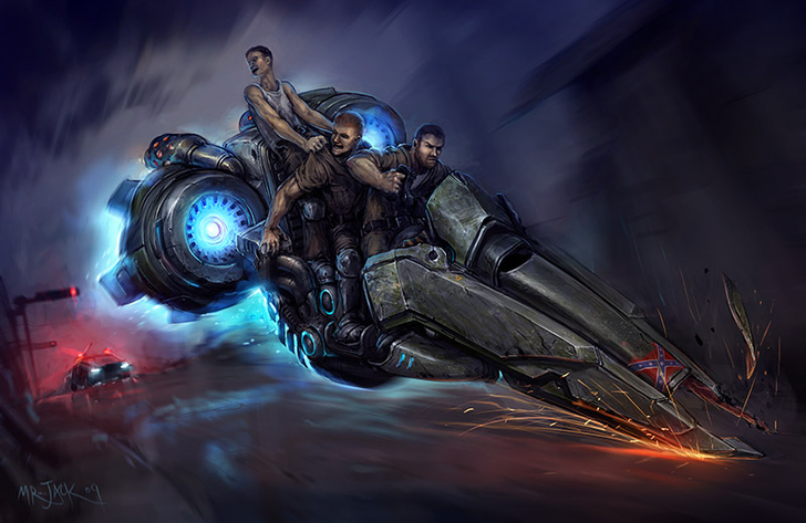 Vulture Hover Bike Mount Heroes of the Storm