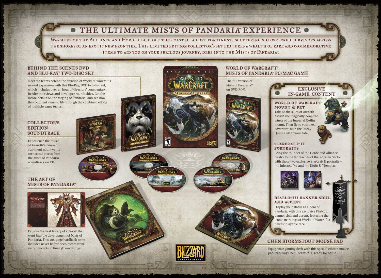 Pandaria Collectors Edition Mega version with bonus. WOW