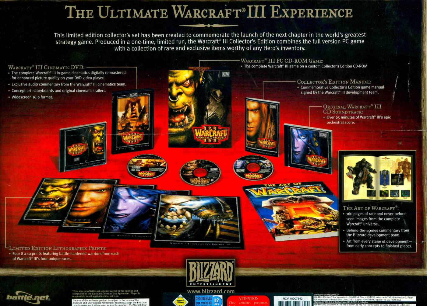Warcraft III Collectors Edition delivery + Frozen Th