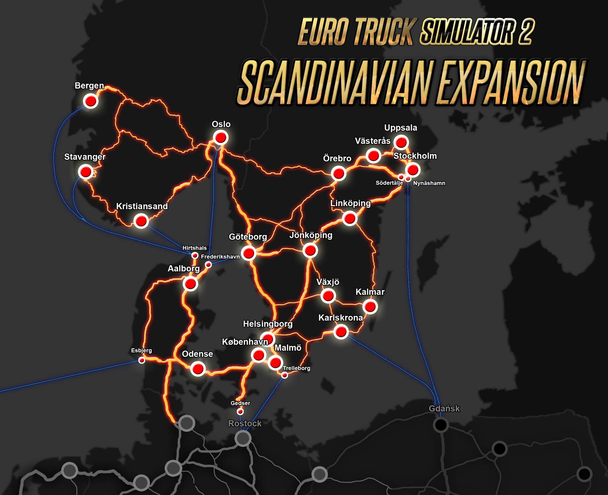 Euro Truck Simulator 2 Scandinavia (STEAM GIFT| RU+CIS)
