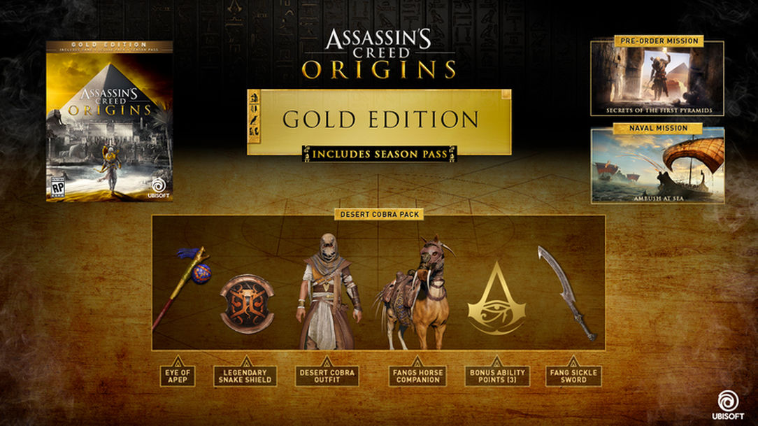 Assassin's Creed Origins Gold Edition (Uplay) wholesale