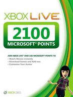 Купить Xbox Live - 2100 MS Points EU RU