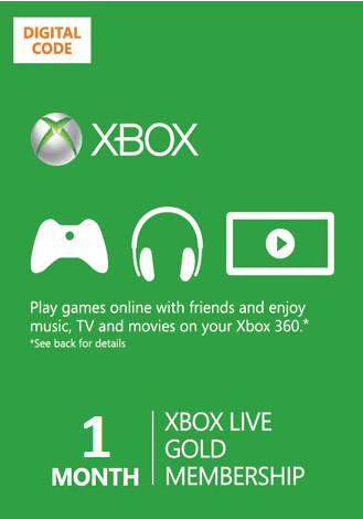 Xbox Live GOLD 1 month Region Free