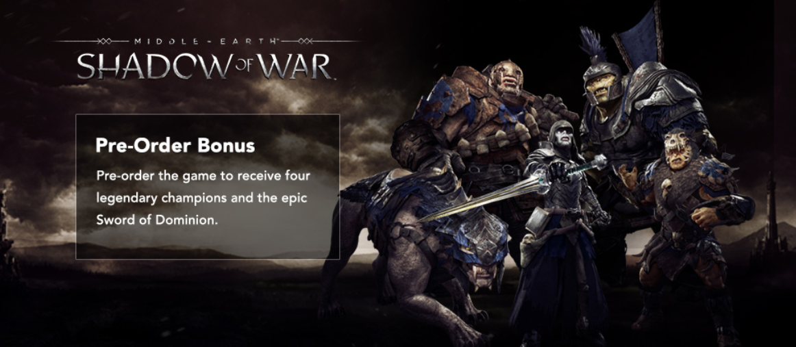 Middle-Earth: Shadow of War Preorder DLC Steam EU