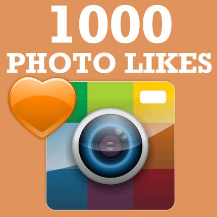 1000 likes on Instagram photo