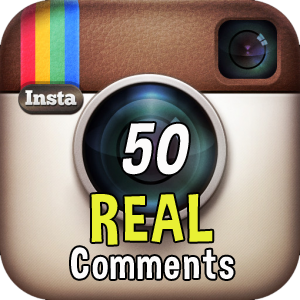 50 real comments Instagram +1500 likes on the photo