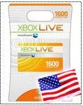 Xbox Live (USA) 1600 points Скидки