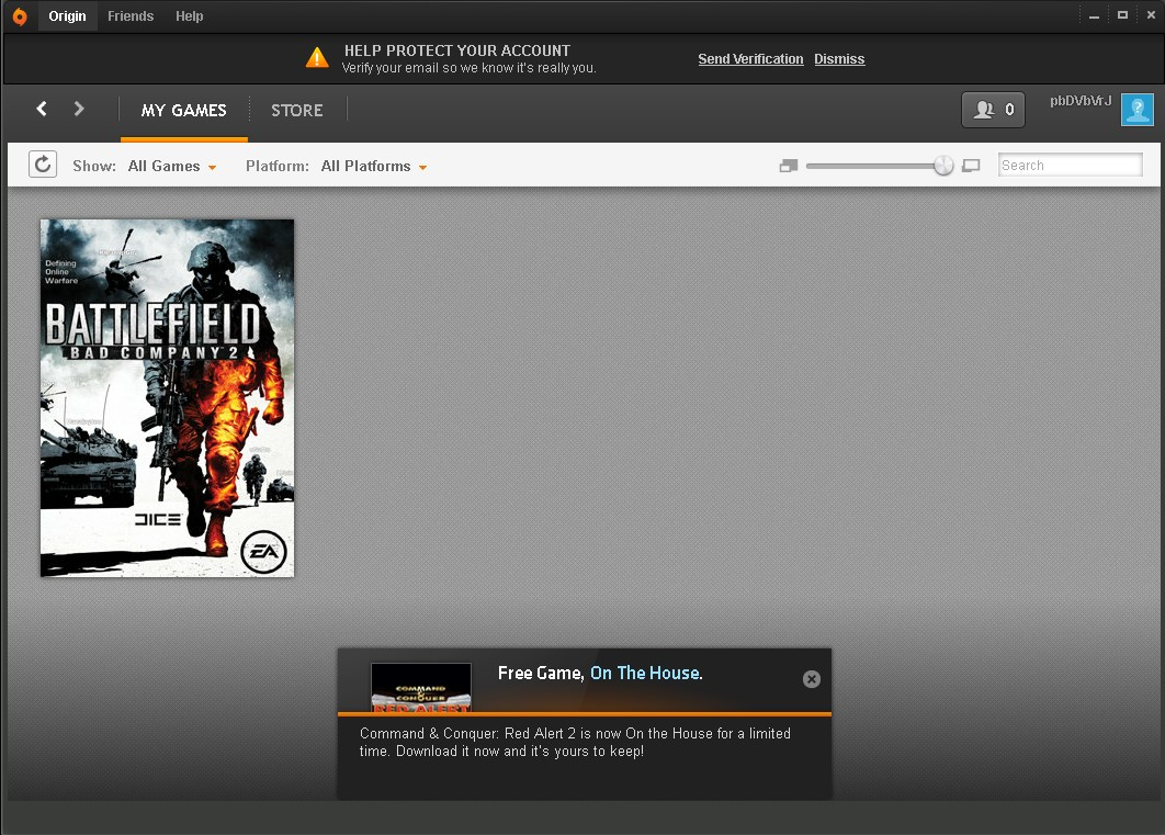 Battlefield - Bad Company 2 (Origin account)