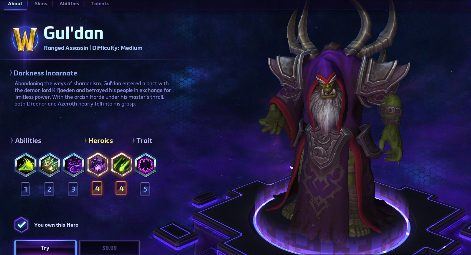 Heroes of the Storm - Gul´dan (Battle.net) Region free