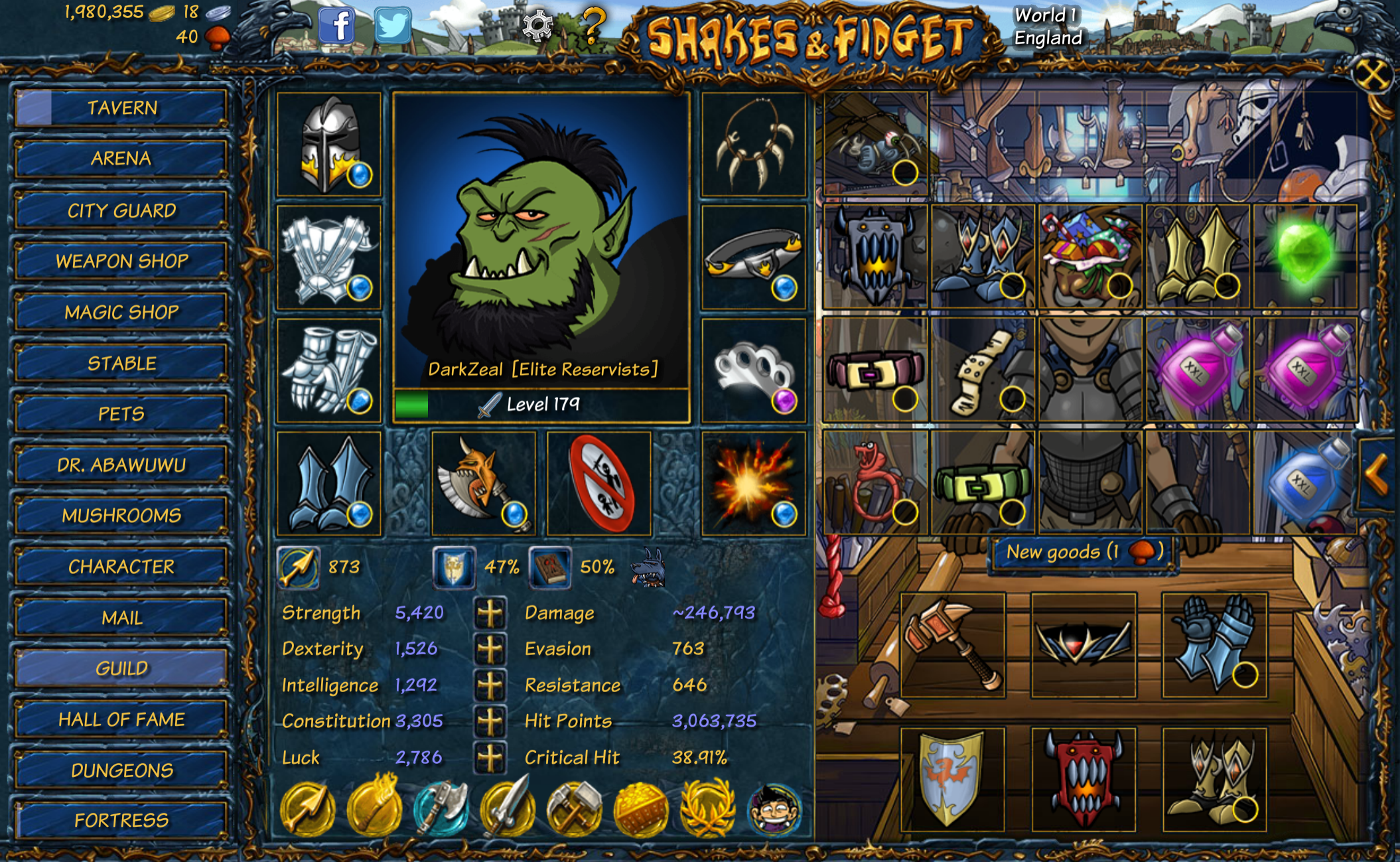 Shakes & Fidget (Account) Multilanguage