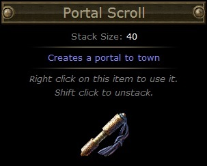 Path of Exile - Scroll of Teleport (Standart)