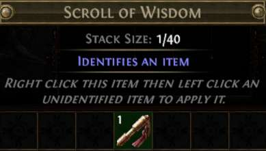 Path of Exile - Scroll of Wisdom (Standart)