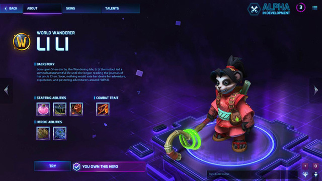 Heroes of the Storm - Li li hero (Battle.net) EU/RU