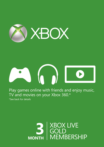 XBOX LIVE GOLD 3+1* Month (Worldwide) Region free