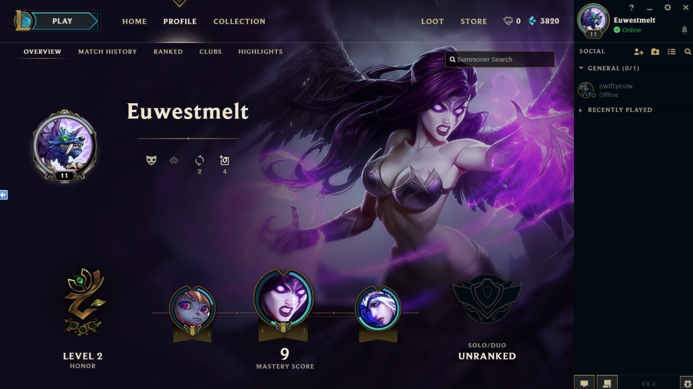 League of Legends - 11 Level account (EU West) 2019
