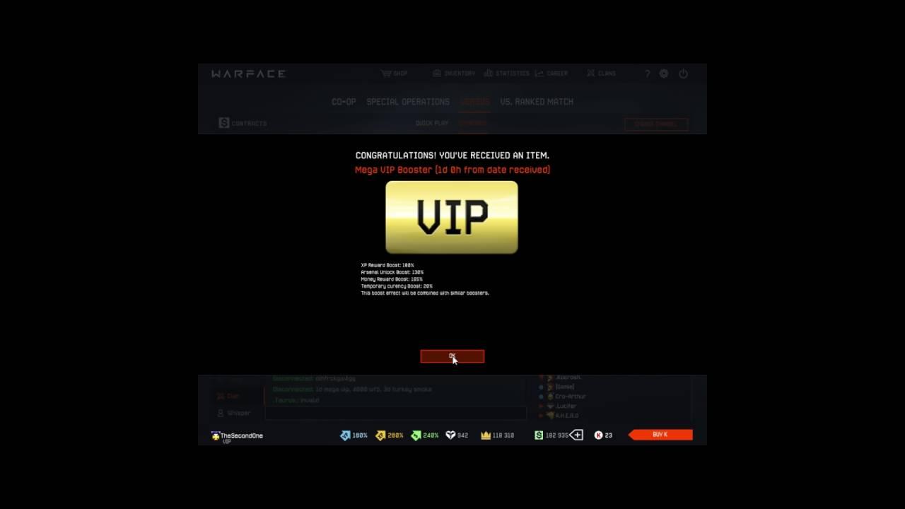Warface - Mega VIP Booster 1 Day 2019