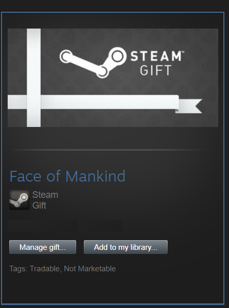 Face of Mankind (Steam gift) Tradable + Rare
