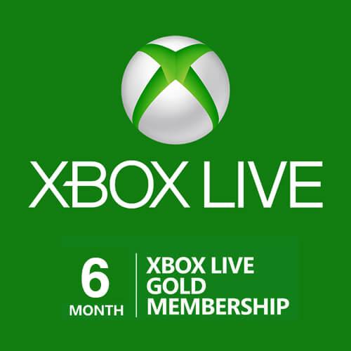 Xbox LIVE: GOLD на 6 месяцев (Microsoft) -- RU