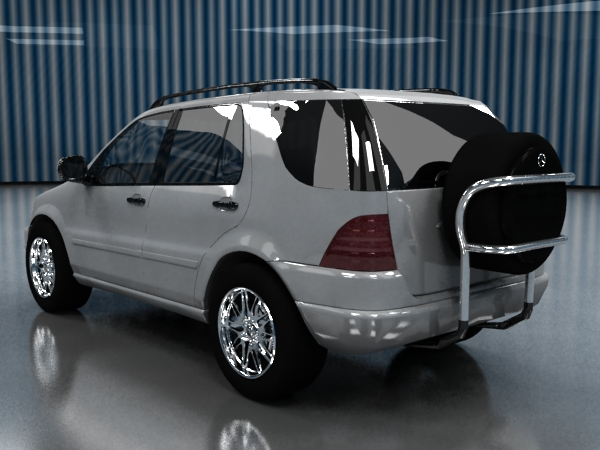 3d model Mercedes ML 320 c materials for V-Ray