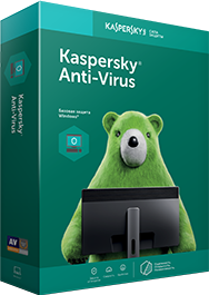 Kaspersky Anti-Virus for 2 PCs for 1 year.  RU