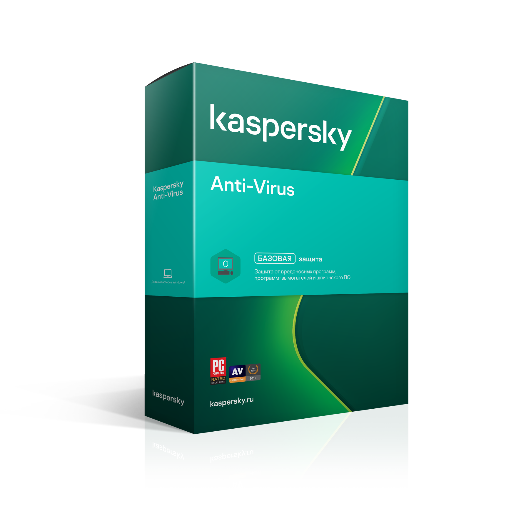 Kaspersky Anti-Virus: Renewal for 1 year* for 2 PCs  RU