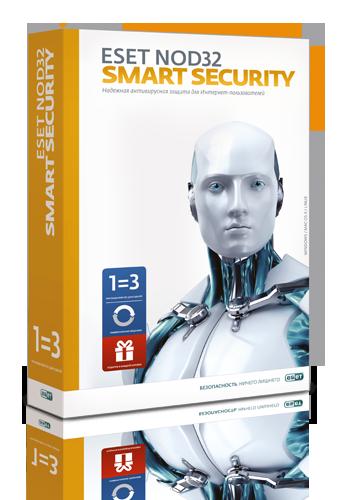 Купить ESET NOD 32 Smart Security 3 ПК, 1 год (20 мес. продл.)
