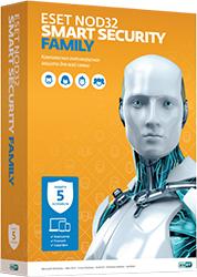 Купить ESET NOD32 Smart Security Family на 5 устройств / 1 год