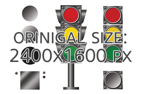 Traffic light. PNG. Clipart.