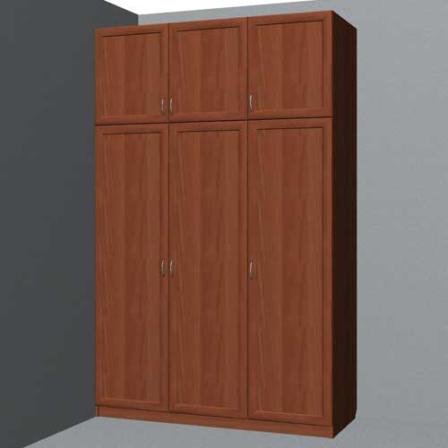 Project tricuspid closet with mezzanine 2400x1500x600