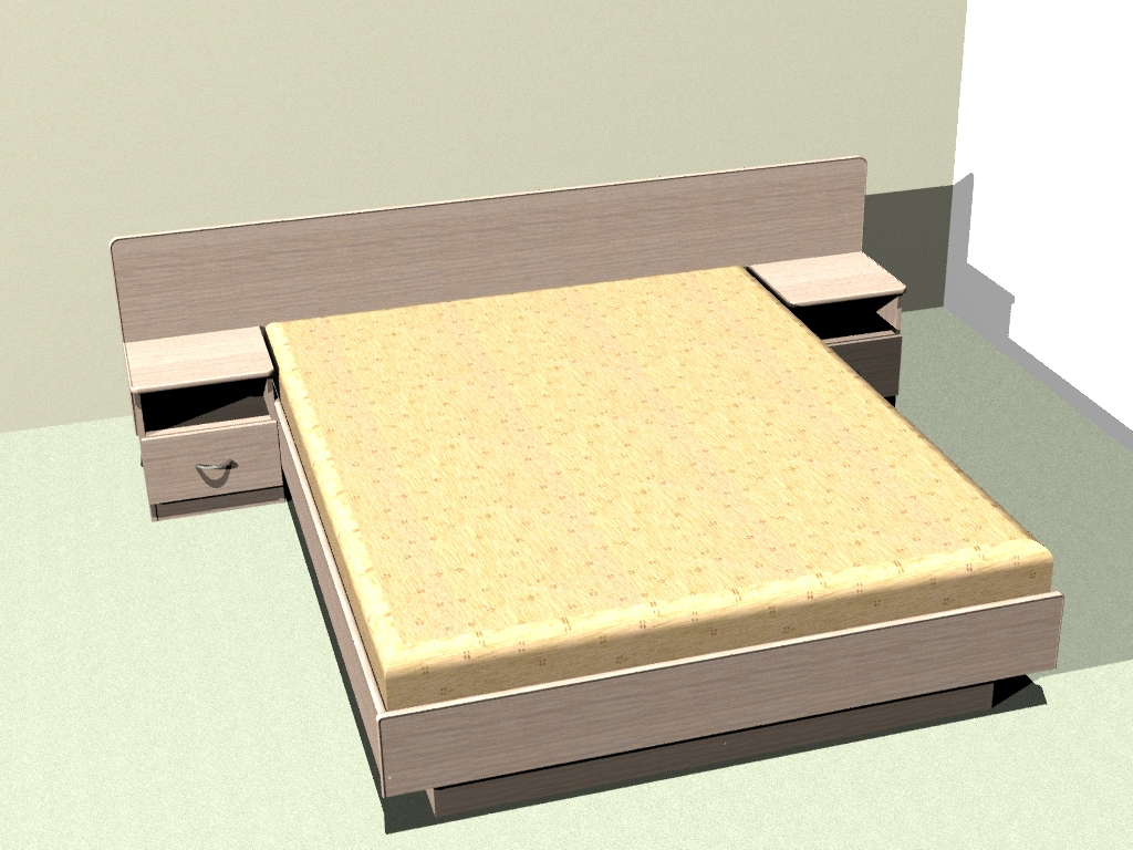 The project is a double bed. Width 1600mm mattress.