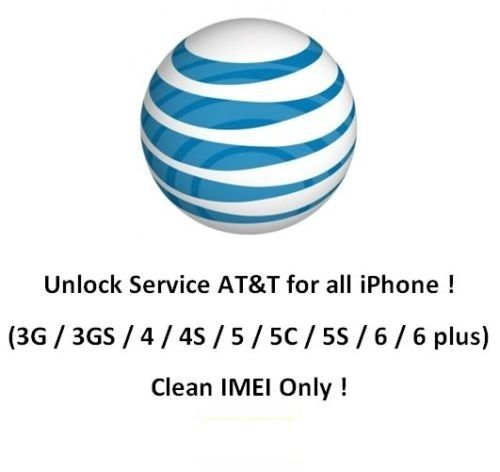Factory unlocking Unlock service AT&T ATT USA for iPhon