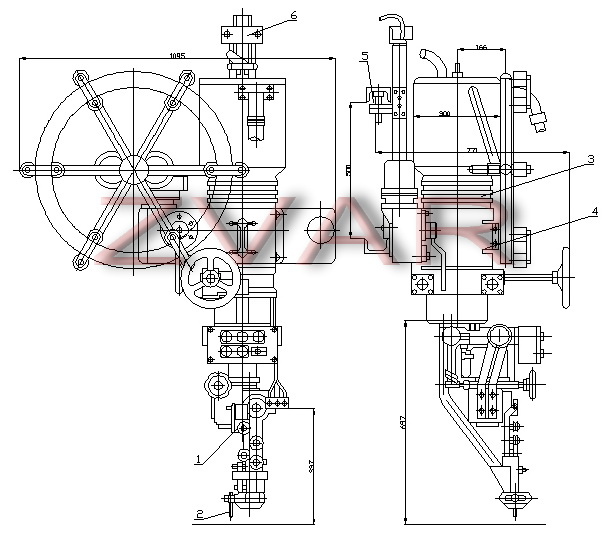 Plans welding machine ABS (general view)