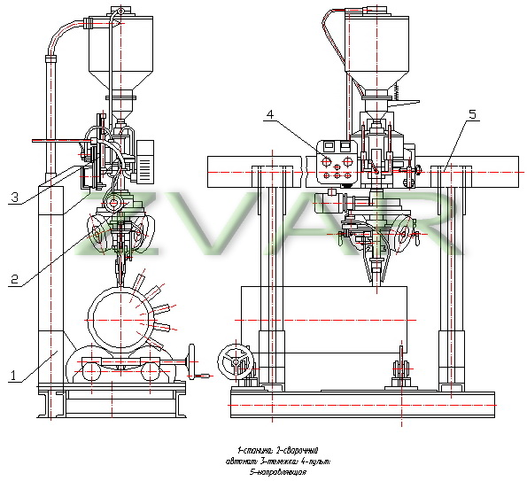 Plans welding machine A-1551 (overview)