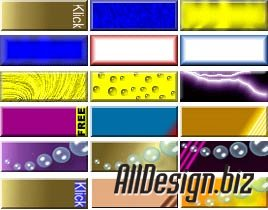 More than 500 pieces of flash-banners for your site